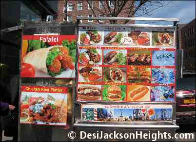 Falafel Food Cart near TD Bank in Jackson Heights